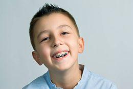 Little boy with braces