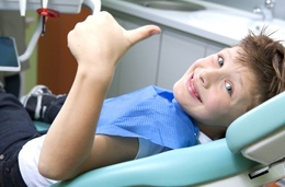 Child in dentist's chair