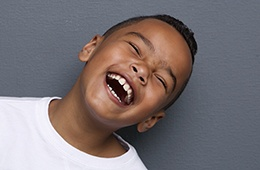 Laughing little boy with healthy smile