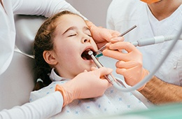 Relaxed patient in dental chair